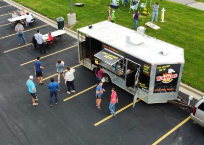 Drone image of Food Truck